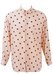 Pale Pink Shirt with Brown Polka Dots - M/L