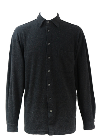 Fendi Dark Grey Brushed Cotton Shirt - L/XL