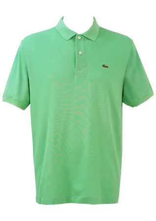Lacoste Mint Green Polo Shirt - L/XL