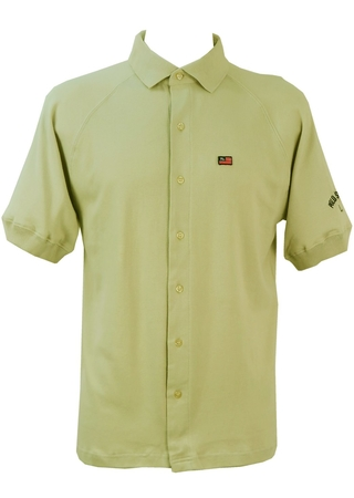 Ralph Lauren 'Polo' Cream Button Down Polo Shirt - M/L