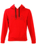 Fila Red Hoody with Grey and Black Trim - S