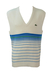 Lacoste Blue & White Striped V-Neck Tank Top - L