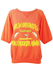 Peach Short Sleeved Sweatshirt with Funboard Graphic - M