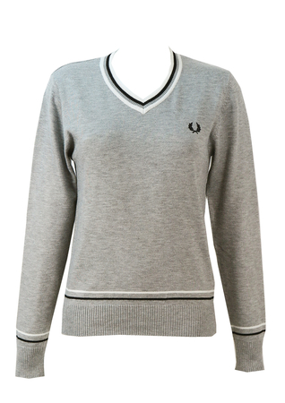 Fred Perry Grey Jumper - S/M