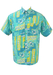 Vintage 1990's Blue & Yellow Abstract Print Short Sleeved Shirt - M/L