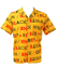 Yellow Short Sleeved Shirt with Confusing Typography Print! - M