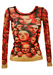 Jean Paul Gaultier Semi Sheer Top with a Multitude of Faces - XS/S