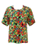 Multicoloured Floral Ditsy Print Short Sleeved Blouse - M/L