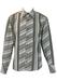 Black, Grey & White Shirt with Asymmetric Black, Grey & White Stripes - M/L