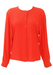 Coral Long Sleeved Blouse with Decorative Buttons - M