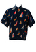 Navy Blue Short Sleeved Shirt with Multicoloured Yachting Motifs - L/XL