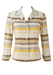 Yellow, White & Brown Striped Textured Blouse - S/M