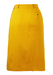 Max Mara Knee Length Ochre Skirt with Leather Trim - S