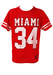 Red and White 'Miami' Mesh Basketball Top - L/XL