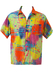 Short Sleeved Bright Multi-Coloured Tie-Dye, Paint Splatter Patterned Shirt! - S/M