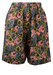 High Waist Shorts with a Pink, Grey & Green Floral Print - XS/S