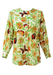 Marella Bright Multi-Coloured Floral and Butterfly Print Tunic Style Blouse - M/L