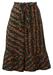 Vintage 70's Ditsy Print Knee Length Flared Skirt - S