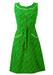 Vintage 1970's Floral Ditsy Print Green Knee Length Dress - S