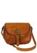 Leather Tan Brown Satchel Shoulder Bag with Adjustable Strap