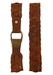 Tan Brown Leather Belt with Interlocking Circle Weave Design