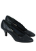 Navy Blue Mid Heel Leather Court Shoes - UK Size 3