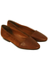 Tan Brown Leather & Suede Slip On Flats - UK Size 3