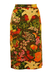 Vibrant Multi Colour Fruit & Floral Pencil Skirt - M