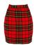 Red Tartan Mini Skirt - S